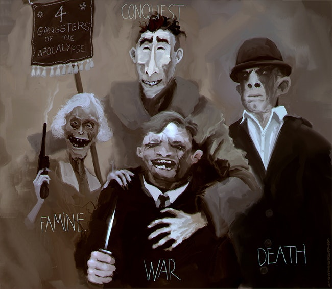 '4 Gangsters of the Apocalypse' by Art Director Stephen O'Connor