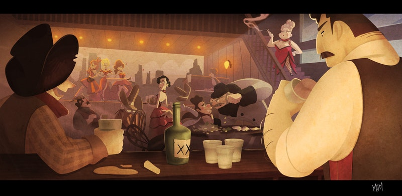 Crazy Saloon by 2D Designer Marvi Manzoni