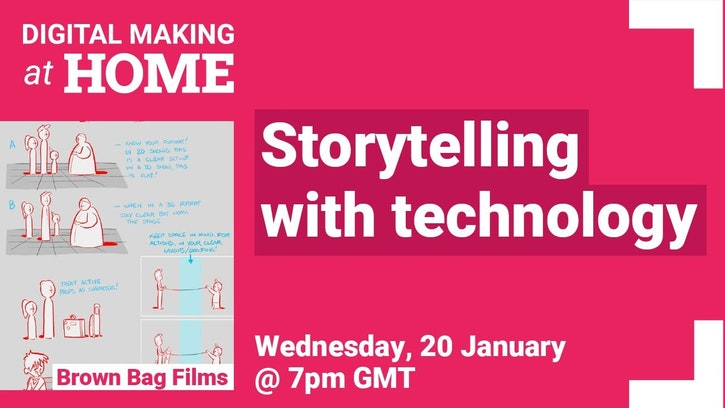 Image displaying Digital Making at Home Storytelling with Technology livestream event
